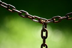 Old rusted chain Royalty Free Stock Photos