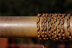 Old rusted chain Stock Photo