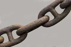 Old rusted chain Royalty Free Stock Image