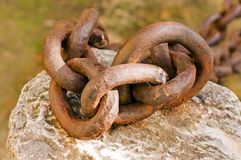 Old rusted chain Royalty Free Stock Photography