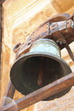 Old rusted church bell. An old rusted church bell at the St. Peter's Basilica, Rome, Italy Stock Photo