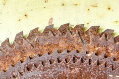 Old rusted circular saw blades Royalty Free Stock Images