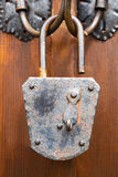 Old rusted and corroded padlock Stock Photography