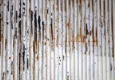 Old rusted corrugated zinc sheet wall Royalty Free Stock Images