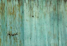 Old rusted corrugated zinc sheet wall Stock Photos