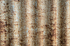 Old and Rusted decay metalsheet wall Royalty Free Stock Image