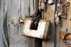 Old Rusted Door Lock Stock Image