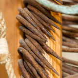 Old rusted fishing hooks - Close-up Stock Photos