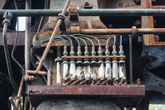 Old rusted fuse. rusty metal machinery detai Stock Photography