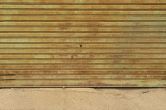 Old rusted garage door Royalty Free Stock Photography
