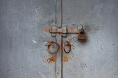 Old rusted gate Stock Photo