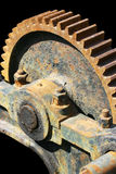 Old Rusted Gear. Close-up of an old rusted gear isolated on black Royalty Free Stock Images