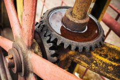 Old rusted gears close up photo Royalty Free Stock Photography
