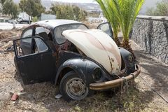 Old rusted german car wreck Royalty Free Stock Photo