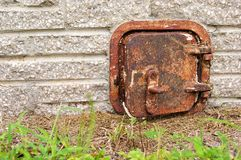 Old rusted iron door Royalty Free Stock Photography
