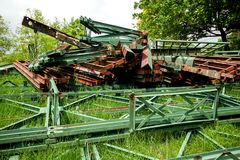 Old rusted iron scrap for a long time. royalty free stock photography