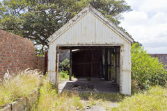 Old rusted iron shed Stock Images