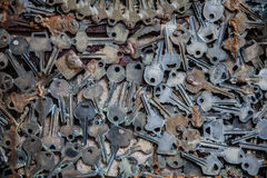 Old rusted keys background Royalty Free Stock Images