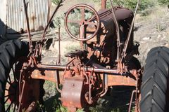 Rusty steel tractor royalty free stock images