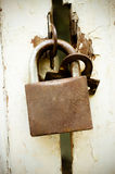 Old rusted lock Royalty Free Stock Images