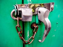 Old rusted lock Stock Photos