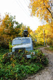 Old rusted lorry in autumn nature Stock Images