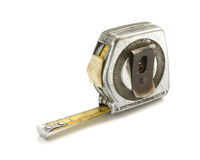 Old rusted measuring tape Stock Photo
