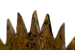 Old rusted metal blade Royalty Free Stock Photos