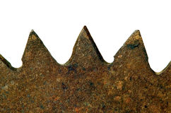 Old rusted metal blade Royalty Free Stock Images