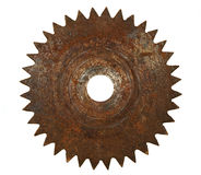 Old rusted metal blade Stock Photo