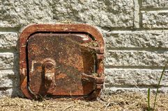 Old rusted metal door Royalty Free Stock Photo
