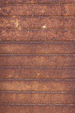 Old rusted metal, striped rusty background - old garage door Royalty Free Stock Photos