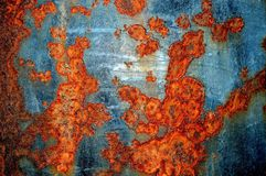 Old rusted metal surface. Close up picture Stock Photography