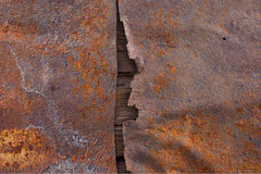 Old rusted metal surface texture. With wood stock photos