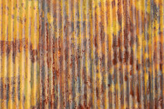 Old rusted metal wall Stock Photo