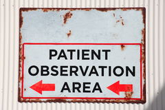 Old rusted observation area sign Stock Image