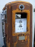 Old rusted petrol pump. In Samnaun, Switzerland stock photo