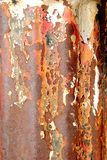 Old Rusted Pipe Macro. A close up of a rusting metal pipe Royalty Free Stock Photos