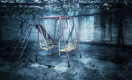 Old rusted playground Stock Image