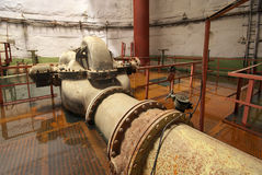 Old rusted pump station. Royalty Free Stock Photography
