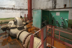 Old rusted pump station. Stock Images