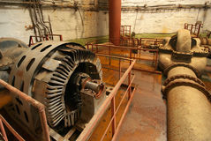 Old rusted pump station. Royalty Free Stock Image