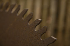 Old Rusted Saw Blade Royalty Free Stock Photography