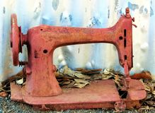 Rusted sewing machine Stock Photo