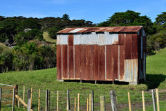 An old rusted shed. A rusted corrugated iron farm shed Stock Photography