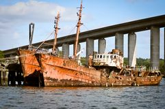 Old rusted ship Stock Photography