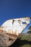 Old rusted ship with blue sky, Galapagos Royalty Free Stock Photos