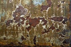 Old rusted steel plate Stock Photo