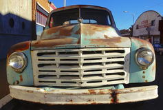 An Old Rusted Studebaker Truck, Lowell, Arizona. Bisbee, Arizona - January 3: The historic Lowell district on January 3, 2015, in Bisbee, Arizona. An old rusted Royalty Free Stock Image