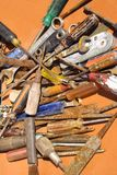 Old rusted tools Stock Image